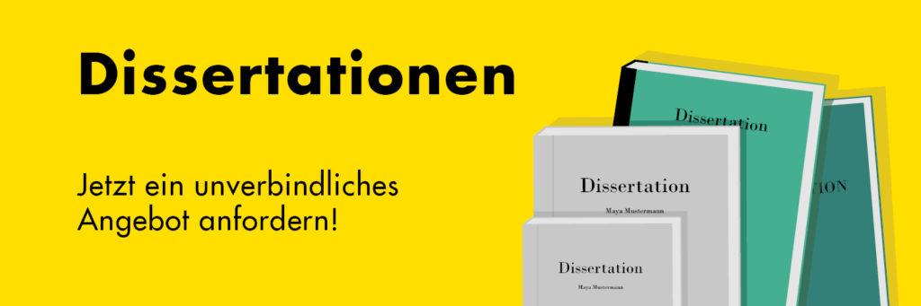 Wir drucken Ihre Dissertation